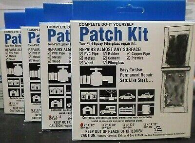 4 Pack Durapower Dpp-212 Patch Kit Two Part Epoxy Size 2 X 12