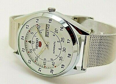 seiko 5 automatic men's railway time 6309 day/date vintage japan watch run r