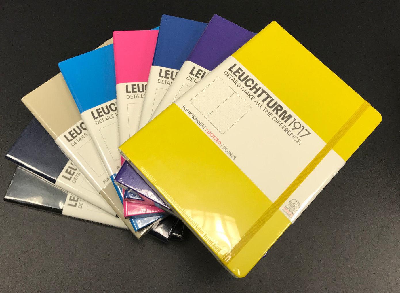 LEUCHTTURM 1917 - Notizbuch Medium (A5) Hardcover DOTTED in tollen Farben