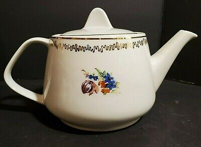 Old coffee maker brewed Tulip style vintage approx 1,5 liter Old jug painted Tulips vintage style decor was painted decoration