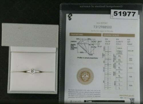 Blue Nile Diamond Solitaire Ring (0.9 Carat), 14k Gold, Gia Certified, 3.75 Size