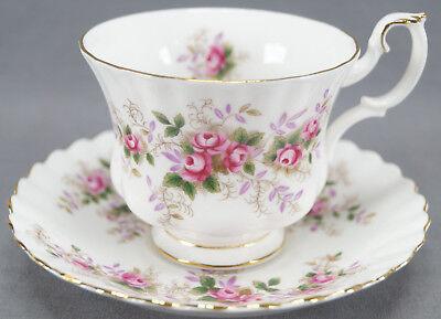 Royal Albert Lavender Rose Montrose Shape Bone China Tea Cup Circa 1961 - 2009 09 Lavender Tea