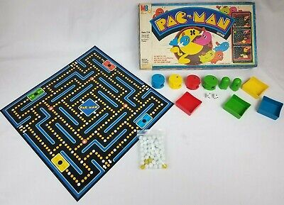Vintage 1982 MILTON BRADLEY PAC-MAN BOARD GAME Green Ghosts #4216 USA Made