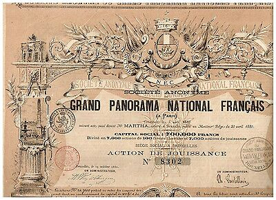 Grand Panorama National Francais, 1880, unc./cps.