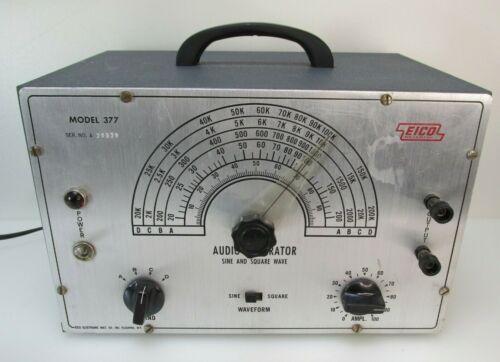 Working EICO 377 VACUUM TUBE AUDIO SIGNAL GENERATOR (Tested Tubes)