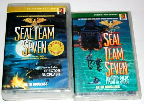 Seal Team Seven Audio Cassette Book Lot (2) USED  FREE S/H Keith Douglass