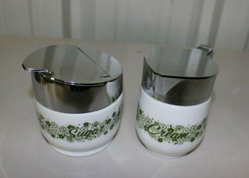 Vintage Gemco Spring Blossom Crazy Daisy Cream & Sugar Bowl Set
