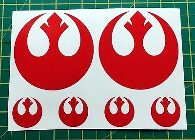 Decal Stickers Star Wars Rebel Alliance RED