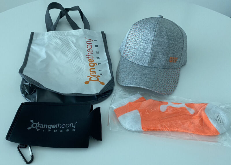 Orange Theory Fitness (OTF) Hat, Bag, Socks, And Koozie Package