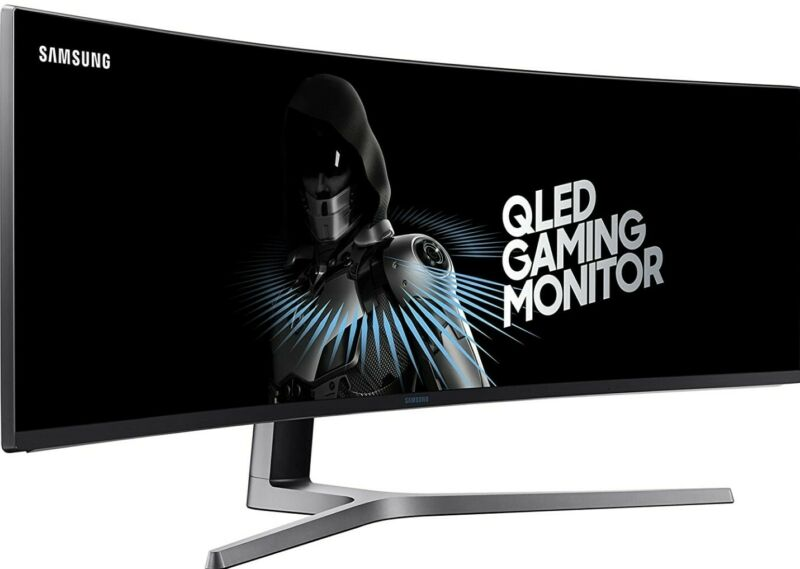 "Samsung LC49HG90DMNXZA-RB 49"" CHG90 QLED Curved Monitor - NEW"