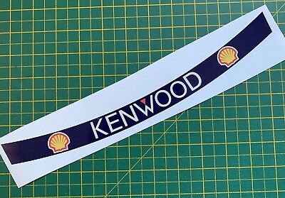Senna F1 Helmet Visor Sticker 93 Kenwood Mclaren Shoei X4 Motorsport  for sale  Woodstock
