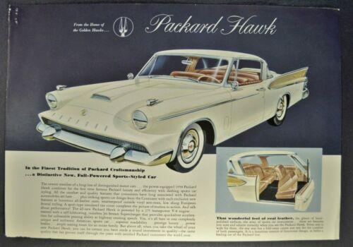 1958 Packard Hawk Sales Brochure Sheet Excellent Original 58