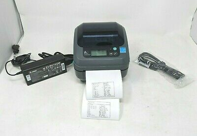 Zebra Gx420d Thermal Printer Wifi Gx42-202710-000 With Zebra Power Supply