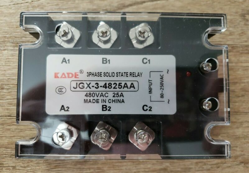 Three Phase Solid State Relay JGX-3-4825AA 480 VAC 25A