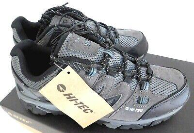 New Men's Size 10 Hi-Tec  Jason Low Hiker Boot Shoes Grey Hiking Grip Leather