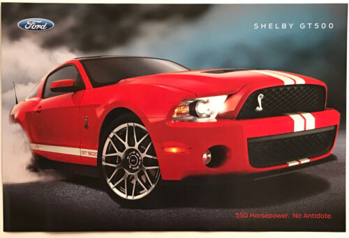 RED SHELBY GT500 MUSTANG POSTER