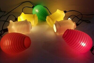 Patio String Party Lights Chinese Tiki Blow Mold RV Camper plastic vintage bulbs
