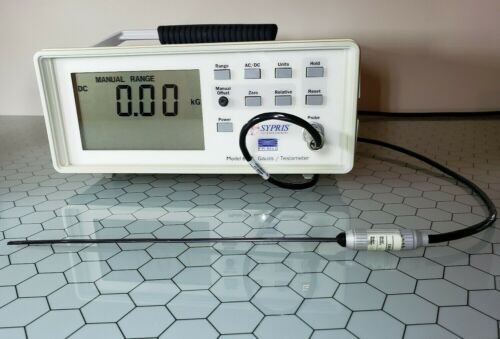 F.W. Bell 6010 Gaussmeter With Magnetic Field Probe Tesla Meter Magnetometer