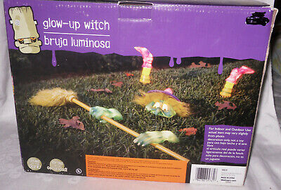Gemmy Blow Mold Glow Up Halloween Lighted Witch Yard Decoration Indoor/Outdoor