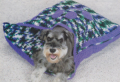 Crochet Pattern ~ DOG & CAT HIDEAWAY BED ~ Instructions