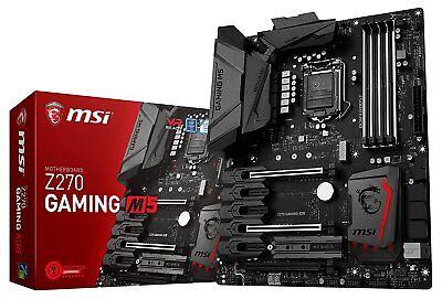 MSI Z270 GAMING M5 Intel Kaby Lake LGA 1151 DDR4 USB 3.0 HDMI SLI CFX ATX Mobo