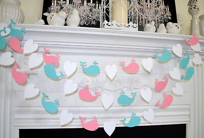 Pink or blue whale baby shower, whale baby shower decoration, gender reveal - Baby Shower Part