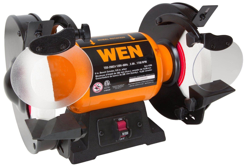 WEN 4286 8-Inch Slow Speed Bench Grinder