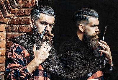 Bare Knocker Beard Bib Hair Catcher - Beard Trimming Shaving Grooming Cape
