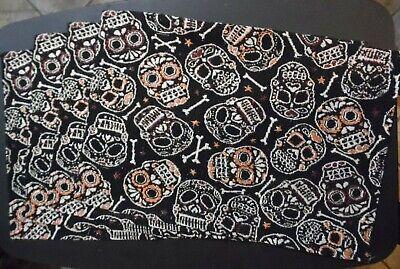 Set of 4 Halloween Skulls Tapestry Place Mats 13