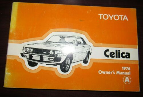 1976 Toyota Celica Owners Manual Book