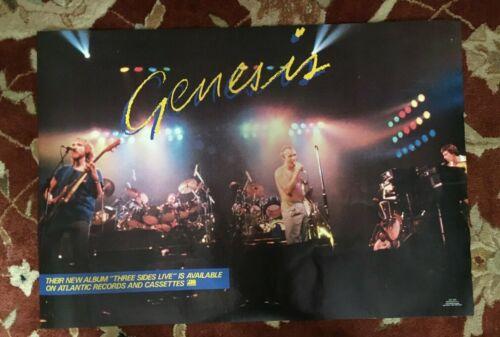 GENESIS  Three Sides Live  rare original promotional poster  Phil Collins