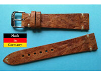 Rios1931 Rallye Uhrenarmband Modell Kaluga echt Juchtenleder sand-beige 18 mm