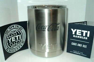 YETI Rambler 10 oz Stainless Steel Insulated Cup with Lid Coca-Cola Promotion