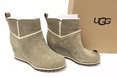 UGG Australia Women's Marte Waterproof Wedge Booties Antilope Suede 1095649 (Ugg Women Wedge Boots)