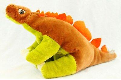 Stegosaurus Dinosaur Stuffed Plush Brown Green Orange