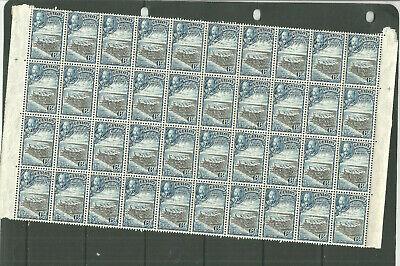 CEYLON 1935 SG370  6C BLACK BLUE PART SHEET OF 40  UNMOUNTED MINT