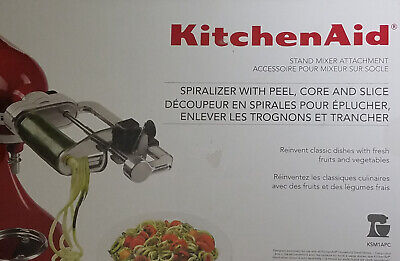 KitchenAid -5 Blade Spiralizer with Peel Core and Slicer Stand Mixer Attachment