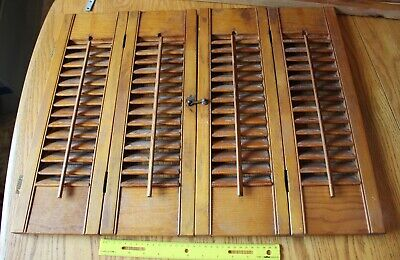 Wooden Louver Vintage shutters folding hinged dinner Pass through for sale  Shipping to South Africa