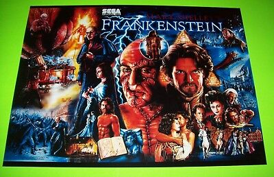FRANKENSTEIN Pinball Machine Translite Art 1995 Original NOS Horror HALLOWEEN