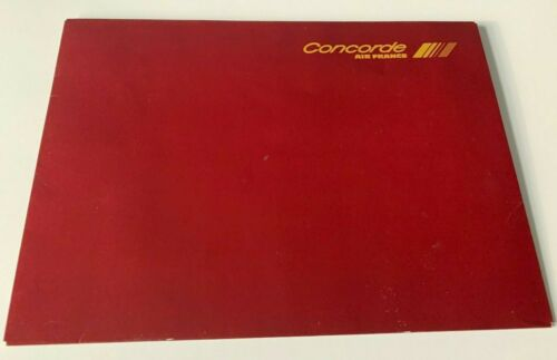 Vtg 1986 Air France airline Concorde Stationery Set letterhead envelopes folder