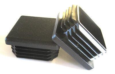 20 - 1 12 Square Tubing Plastic Plugs 1-12 Inch End Cap 11-19 Ga 1.5x1.5