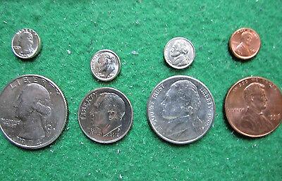 NEW HOT ITEM 4 - MINI US COINS - 1c PENNY 5c NICKEL 10c DIME 25c QUARTER OFFER ?
