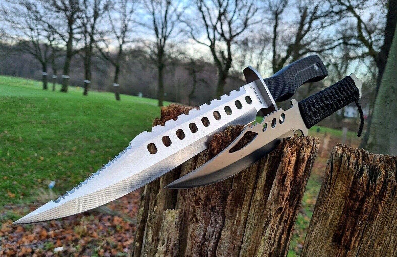 2er Set BULLSON  BUSCHMESSER  KNIFE JAGDMESSER MACHETE  MESSER JAGD CAMPING