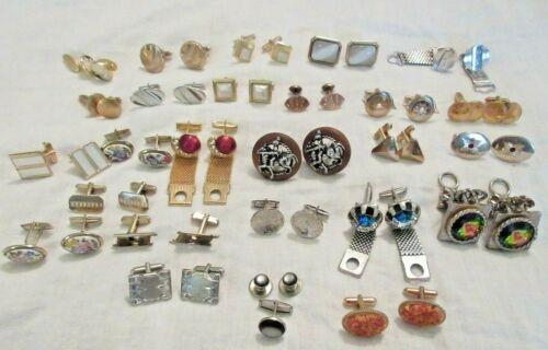 Vintage Cufflinks Lot of 26 Pairs