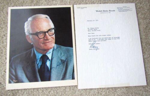 BARRY GOLDWATER SIGNED TYPED LETTER & PHOTOGRAPH PRESIDENT ARIZONA SENATOR 1975