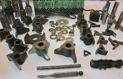 Large Lot Of Shaper Molding Cutters Tools Etc. - Delta -ss- Etc. 12 Arbor Hole