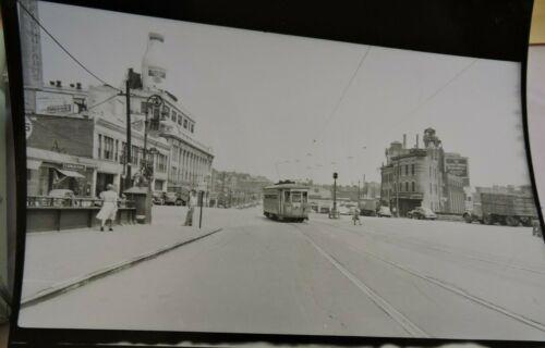1948 TARS 3rd Av Railway Trolley E165 St Melrose Av Bronx NYC DARKROOM Photo