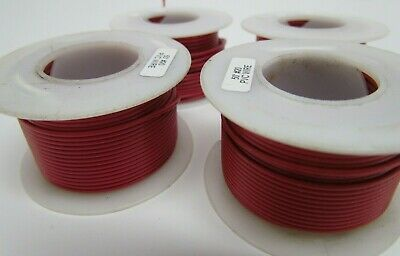 Lot Of 4 50 20-awg Electrical Wire Reels Solid Pvc 200 In Total Red