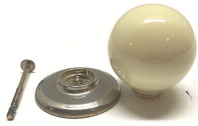 Vintage Gainsborough Ivory Porcelain Closet Door Knob Brass No Lock