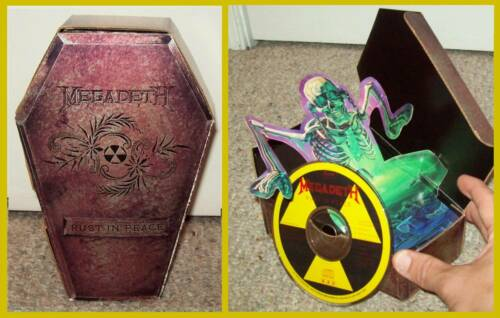 Megadeth Rare 1990 Rust in Peace Coffin Box Set Vic Rattlehead t-shirt metallica